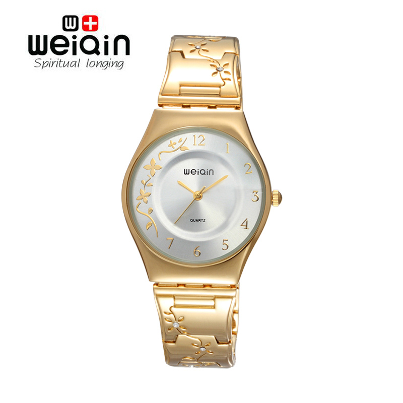 WEIQIN Brand Silver Women Watches Luxury High Quality Water Resistant Montre Femme Stainless Steel 2017 Dress