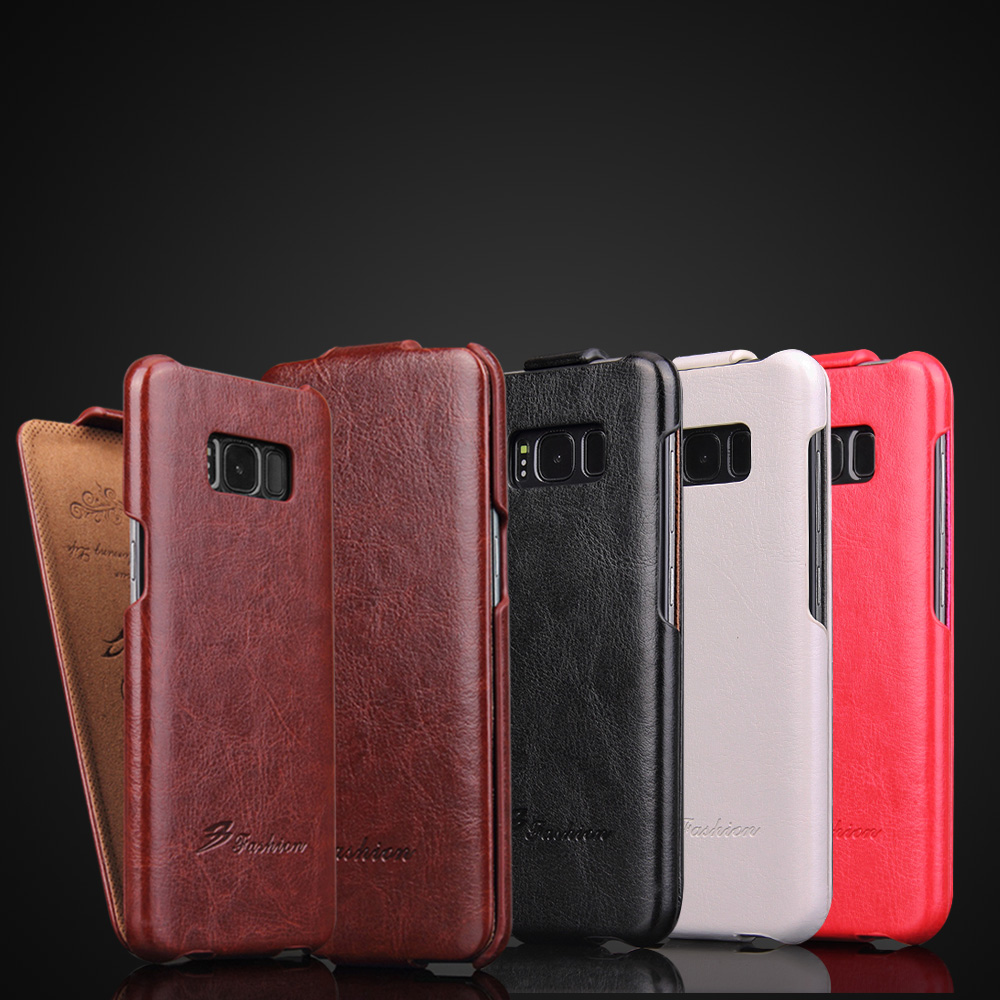 For Samsung Galaxy S8 Plus S6 S7 Edge S5 Neo Note 8 Case Luxury Retro Vertical Business Leather Case Flip Cover fundas celular