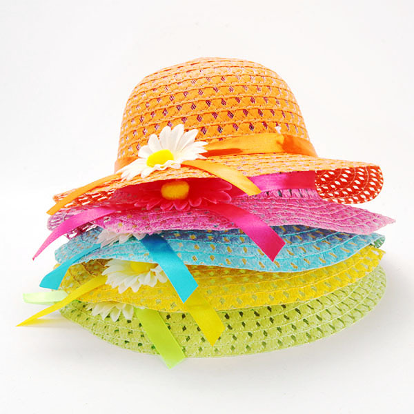 Summer Hat Girls Kids Beach Hats Bags Flower Straw Hat Cap Tote Handbag Bag Suit Hot Selling