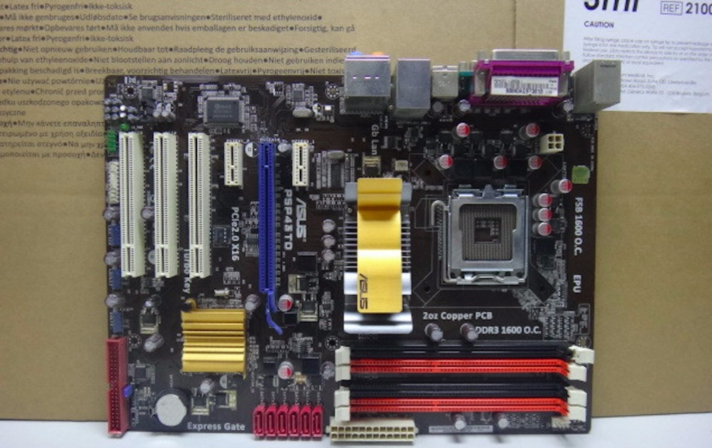 original motherboard P5P43TD Socket LGA 775 DDR3 16GB boards ATX USB2.0 SATAII P43 desktop motherboard free shipping intel g45 atx lga 775 ddr3 computer motherboard blue silver