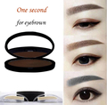 Perfect Enhancer Straight United Eyebrow Dark Gray/Light Brown/Bright Brown Ink Paste Stamp, Brow Stamp Powder
