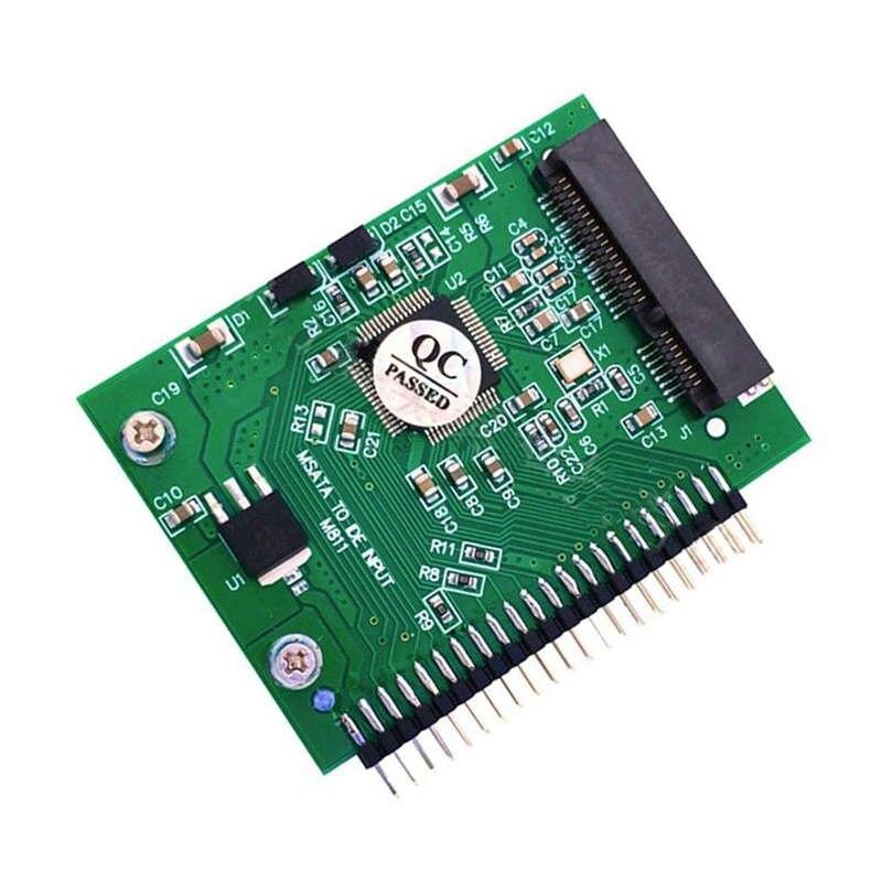 מקרנים ופלאזמות Msata SSD כדי 44 כפי ממיר מתאם פין אידה 2.5 אינץ IDE HDD 5 וולט עבור מחשב נייד (2)