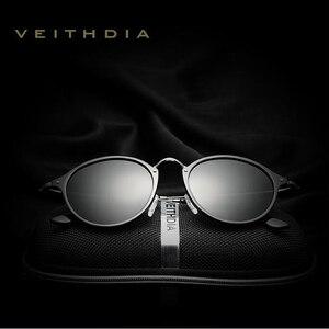 Image 2 - Óculos de sol veithdia vintage retro marca designer óculos de sol masculino gafas óculos de sol masculino 6358