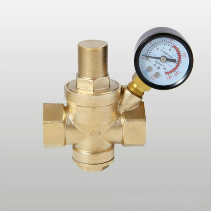 DN15 DN20 DN25 DN32 Brass Water Pressure Regulator With Gauge Pressure Maintaining Valve Tap Water Pressure Reducing Valve