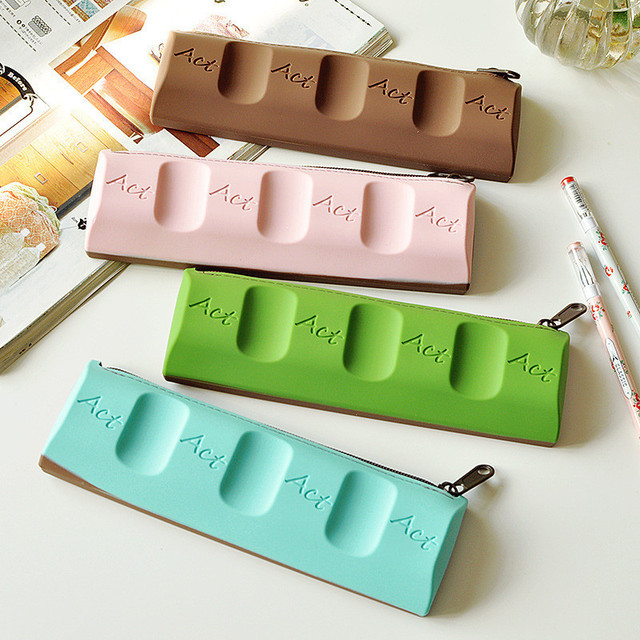 Kawaii Pencil Case Chocolate Pencil Bag SchoolOffice Stationery New Designer Office Supplies