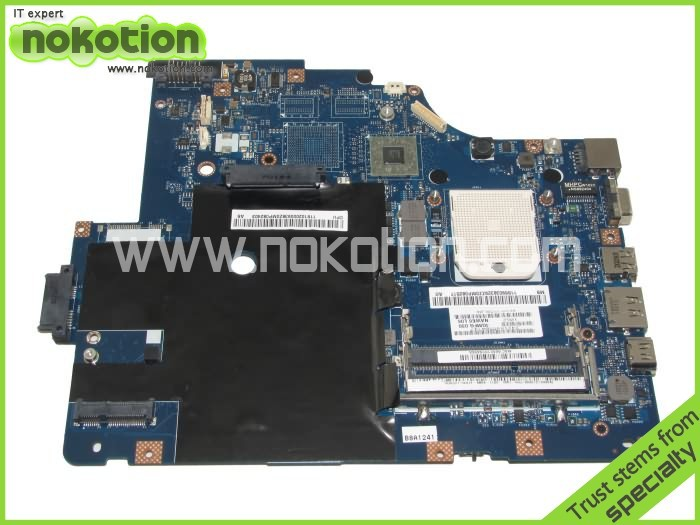NOKOTION LA-5754P laptop Motherboard For Lenovo G565 Z565 Notebook PC System board Main board DDR3 11S69038329 04y1168 motherboard for lenovo thinkpad edge e430 laptop main board qile1 la 8131p hd4000 graphics 14 ddr3