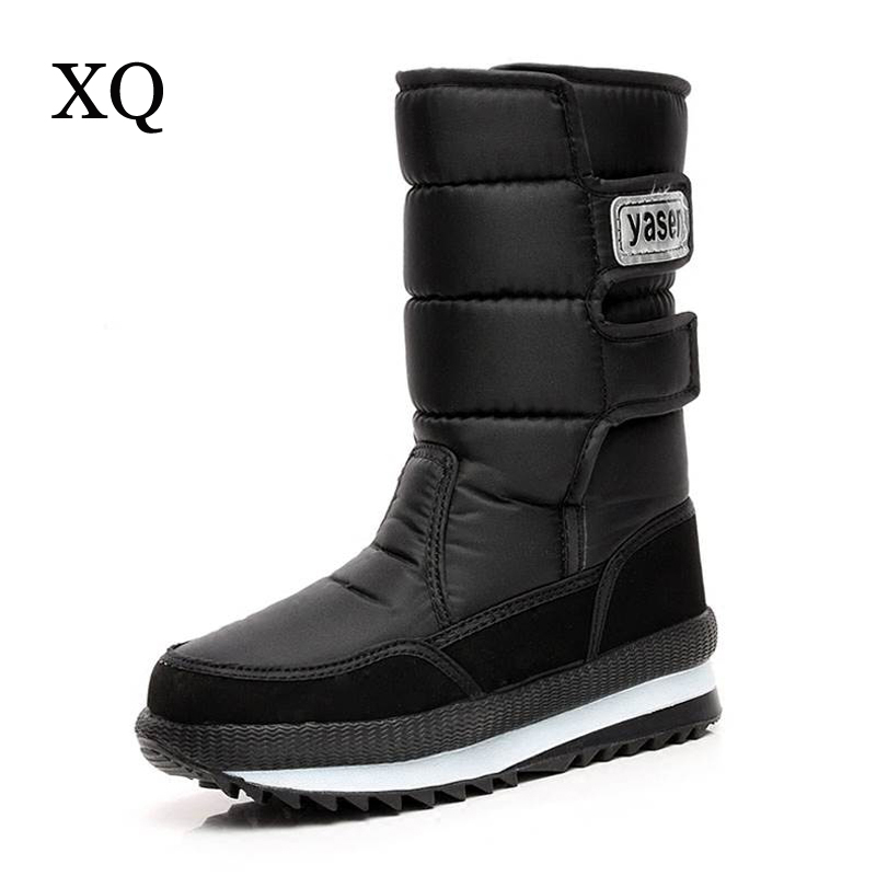 Women boots 2017 new arrivals high quality waterproof warm women winter shoes slip-resistant thicken plush snow boots size 36-40