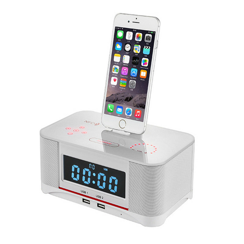 Obligatorisch Yoteen Nfc Drahtlose Lautsprecher Tragbare Bluetooth Lautsprecher Lcd Dock Station Alarm Für Apple Samsung Ipad Iphone 8 7 S Bt 4,0 Kaufe Eins, Bekomme Eins Gratis