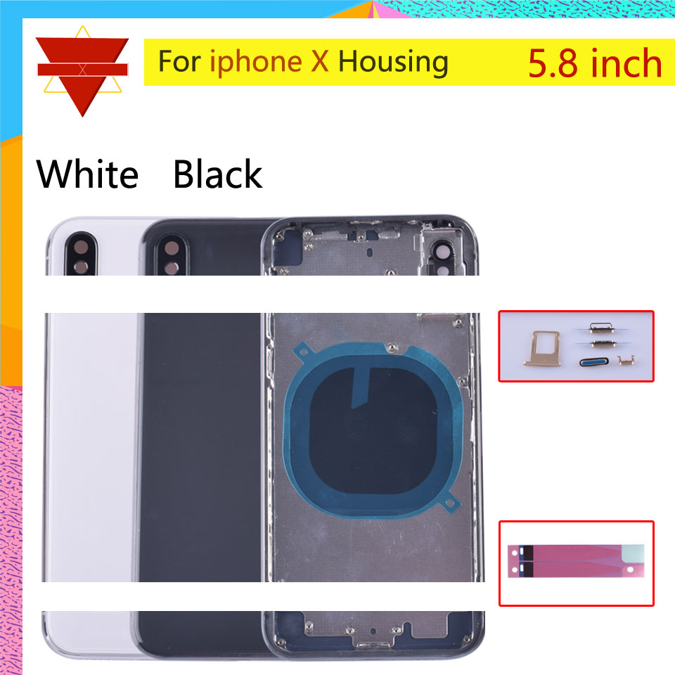DHL 20pcs For <font><b>iphone</b></font> X Back Middle Frame Chassis Housing Battery Cover For <font><b>iphone</b></font> x coque Housing Body Case image