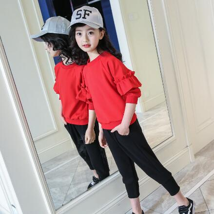 Girls Clothing Sets Kids Spring Autumn Long Sleeve T-shirt+Pants Tracksuit Casual Clothes Suit Children Sports Set 6 8 12 Y