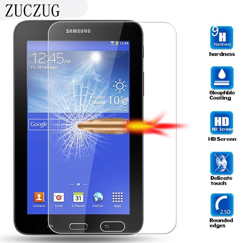 "9H 0.3 מ""מ פיצוץ הוכחה זכוכית מסך מגן עבור Samsung Galaxy Tab 3 לייט T110 T111 T116 7 ""מסך מגן הסרט"
