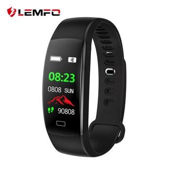 LEMFO Смарт-фитнес браслет Для мужчин Цвет Экран IP68 Водонепроницаемый крови Давление монитор сердечного ритма браслет для IOS и Android