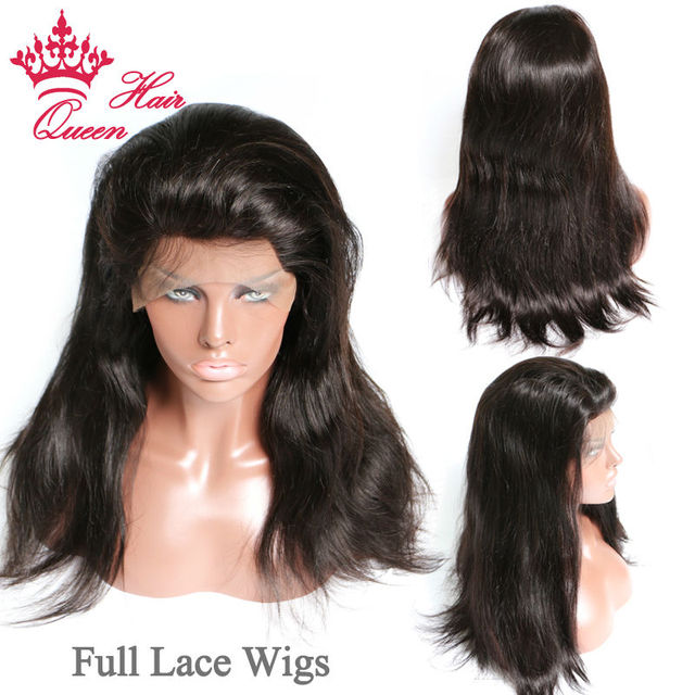 Queen Hair Full Lace Wig / Lace Front Wig Virgin Hair 100% Human Straight Hair Human Hair Wigs For Black Women In Stock DHL Free