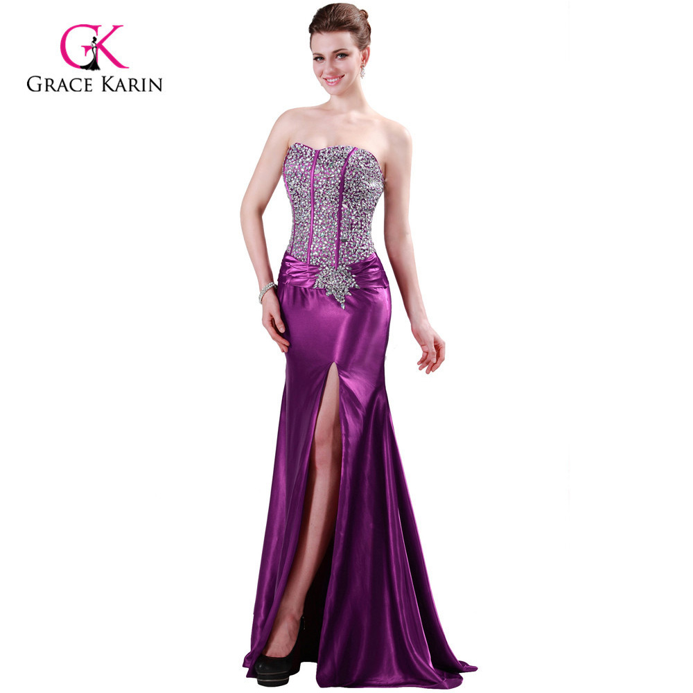 Popular Purple Evening Gown Mermaid-Buy Cheap Purple Evening Gown ...