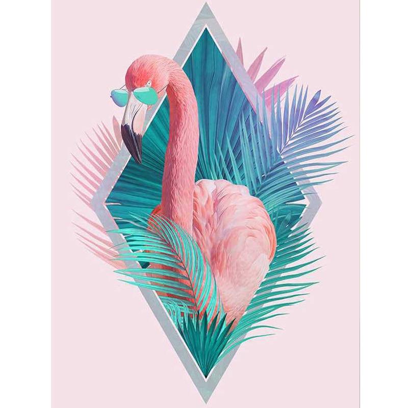 100% Full 5D Diy Daimond Painting Pink Flamingo 3D Diamond Painting Round Rhinestone Diamant Painting Embroidery Animals100% Full 5D Diy Daimond Painting Pink Flamingo 3D Diamond Painting Round Rhinestone Diamant Painting Embroidery Animals