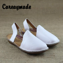 Careaymade-2019 New Artistic flat-heeled sandals of series made by hand in summer casual shoes female genuine Leather