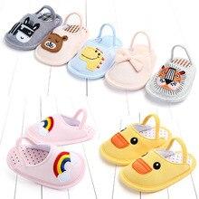 Children Butuo Shoe Baby Home Furnishing Indoor Floor Soft Sole Of Shoes Cartoon Non-slip Baby Cotton Slipper