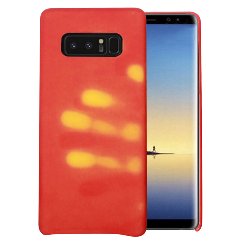 Чехол для телефона Samsung S6 S7 Edge S8 плюс Note8 Примечание 8 Матовый PC Термальность Температура зондирования изменить Цвет телефон чехол Сумки