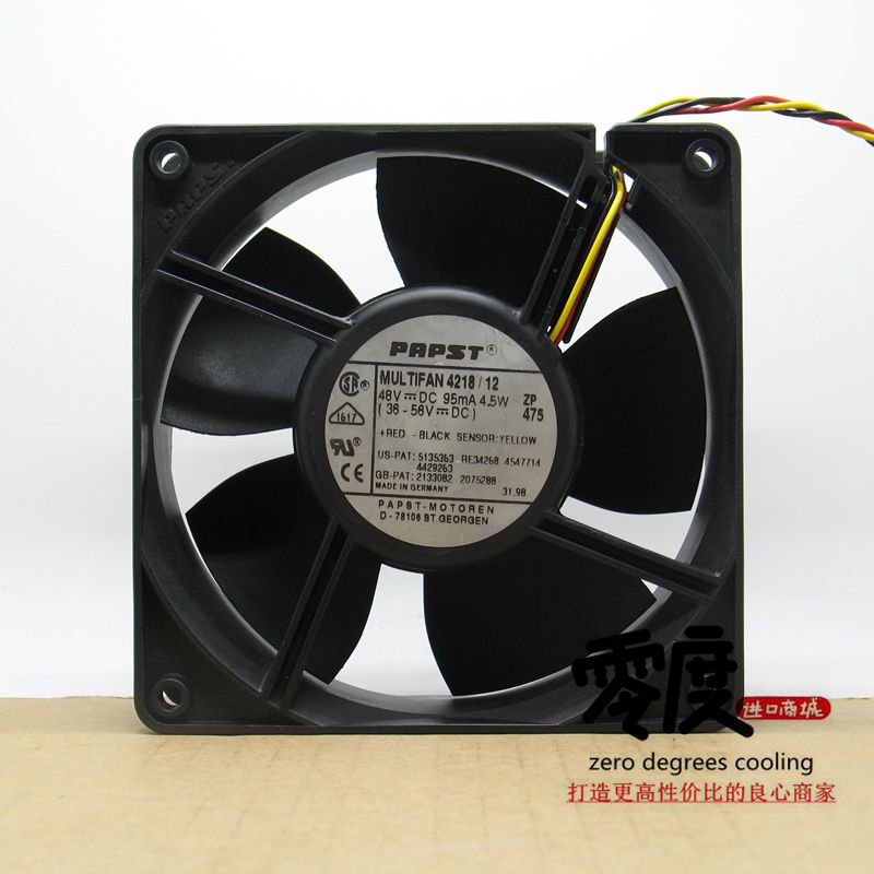Original EBM PAPST 4218/12 48V 4.5W 120*120*38MM Inverter cooling Fan new original ebm papst w1g180 ab47 01 48v 100w 200 70mm inverter cooling fan