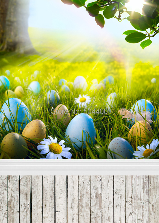 5X10ft Customize photography backdrop newborn easter wood computer print background for photo studio D 1195
