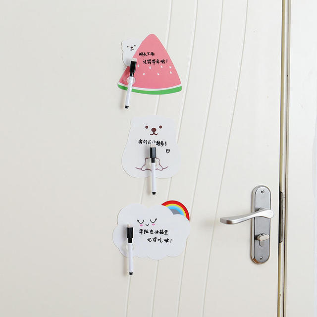 1 Set Cute Rewritable Message Board With Pen Paste Refrigerator Sticky Notes Wall Fridge Decorative Message Sticker Home Decor 2