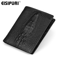 EISIPURI Pattern 100 Genuine Leather Wallets New Arrival Business Leisure Purse Designer Wallets Famous Brand Men