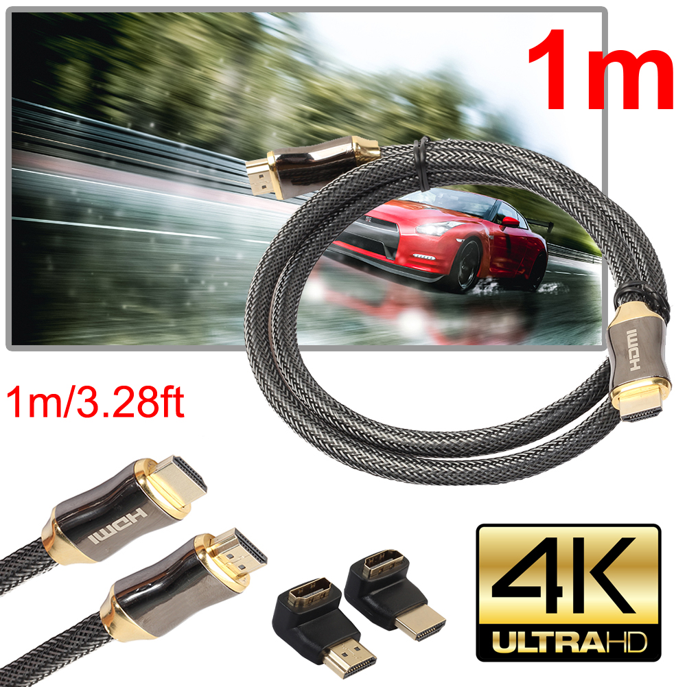 HDMI Cables 1m/1.5m/2m/3m/5m/10m Ultra HD HDMI Cable V2.0 + Ethernet HDTV 2160p 4K 3D+90 270 degree Adapter Male to Male Cables