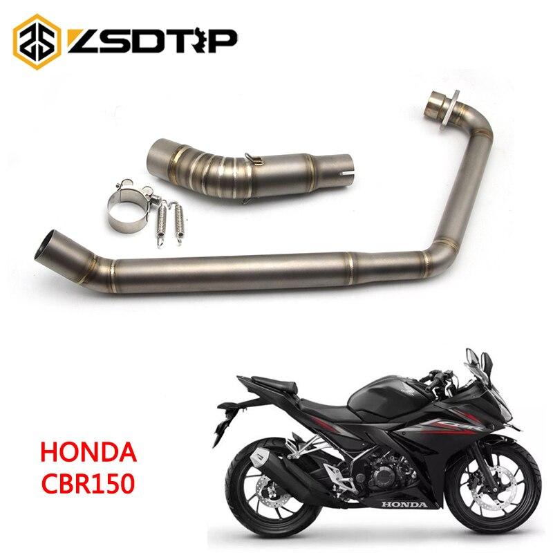 ZSDTRP moto système complet d'échappement évasion Contact modifié avant lien moyen tuyau sans lacet pour Honda CBR150
