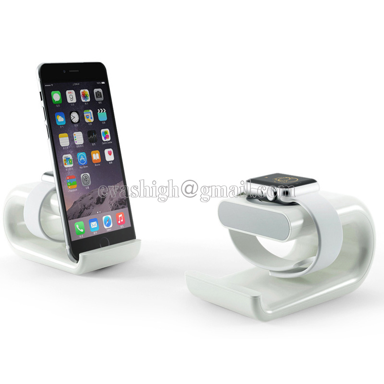 Apple watch stand iphone display holder iwatch charging dock tablet bracket ipad display acrylic for smart watch exhibit charging dock station platform apple watch charging dock station platform iwatch charging stand bracket docking station holder for 2015 apple watch [38mm and 42mm] compatible with both models