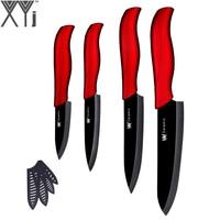 XYj 4pcs Ceramic Knives 6 Chef 5 Slicing 4 Utility 3 Paring Knife Zirconia Nano Kitchen