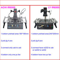 Infrared BGA Rework Machine LY IR6500 With Preheat Area 240 200mm 6pcs BGA Jigs