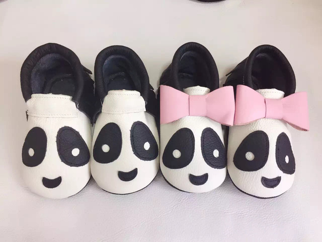 2017 New arrivel handmade animal top genuine leather moccasins fringe baby  soft sole kids First Walkers infant non slip shoes