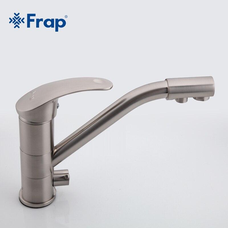 Haut de gamme en laiton corps Nickel brossé cuisine robinet évier mélangeur robinet 360 degrés rotation avec purification de l'eau caractéristiques F4321-5 - 5
