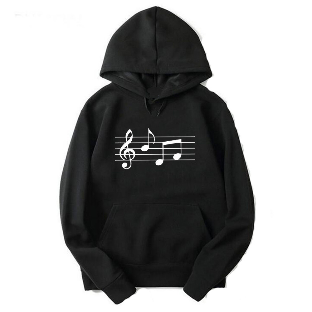 Gresanhevic Men Women Winter MUSIC printed Fitness Street wear Hip Hop Male Solid Sweatshirts Hoodies