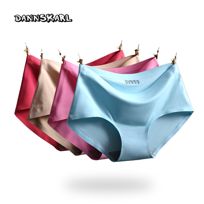 2016 summer The new Women's Panties ice silk Cool and refreshing seamless underwear triangle big yards of female briefs
