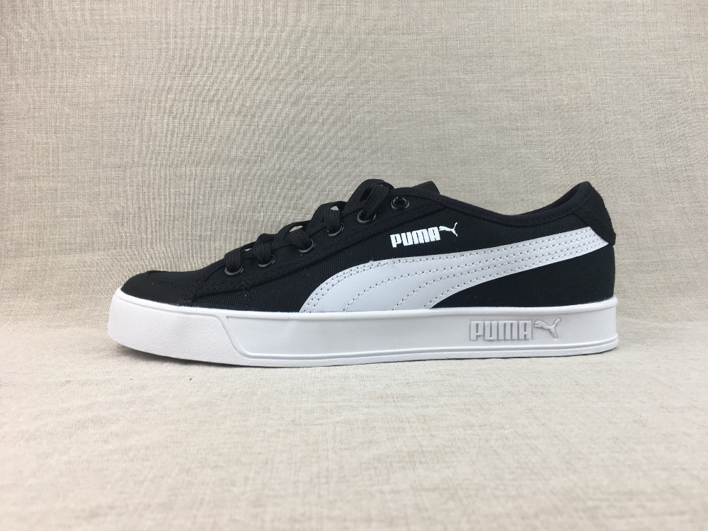 Free shipping 2018 Retro Black and white men Puma open smile casual sports shoes  Badminton Shoes a2536a038