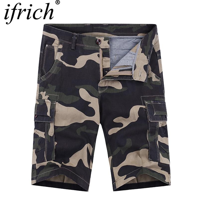 Camo CargCamo Shorts Men 2019 Camouflage Mens Casual Shorts Male Work Shorts Man Military Short Pants Pantalones Cortos Hombre