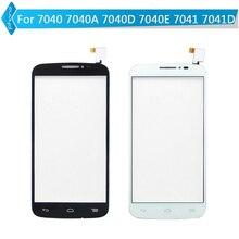 Alcatel pop touch дигитайзер экраном сенсорным one стекла белый черный для