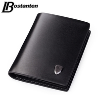 Bostanten New 2015 Luxury Men Wallets Leather Male Money Zipper Purses New Design Top Short Coin