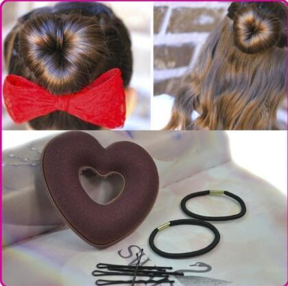 Heart Shape Hair Styling Bun Maker