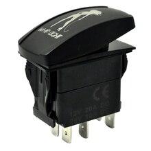 New Switch ON/OFF LED Car Boat Truck Bar Rocker Toggle 12V 20A 5P (Blue, Whip Light)