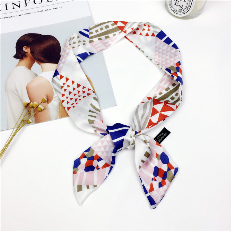 2018 NEW Fashion Women   Scarf   Double-deck Luxury Brand All-match Hijab Silk Satin Foulard Square Headband   Scarves     Wraps   Headband