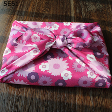 Japan Wrap the cloth furoshiki polyester 100% / Japanese style flower  printed 70cm/Many Uses