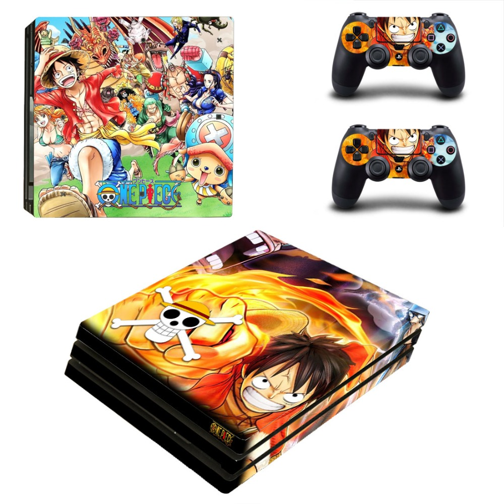 OSTSTICKER One Piece for Sony PS4 Pro For Sony Play Station 4 Pro Console and Controllers Skins Decal