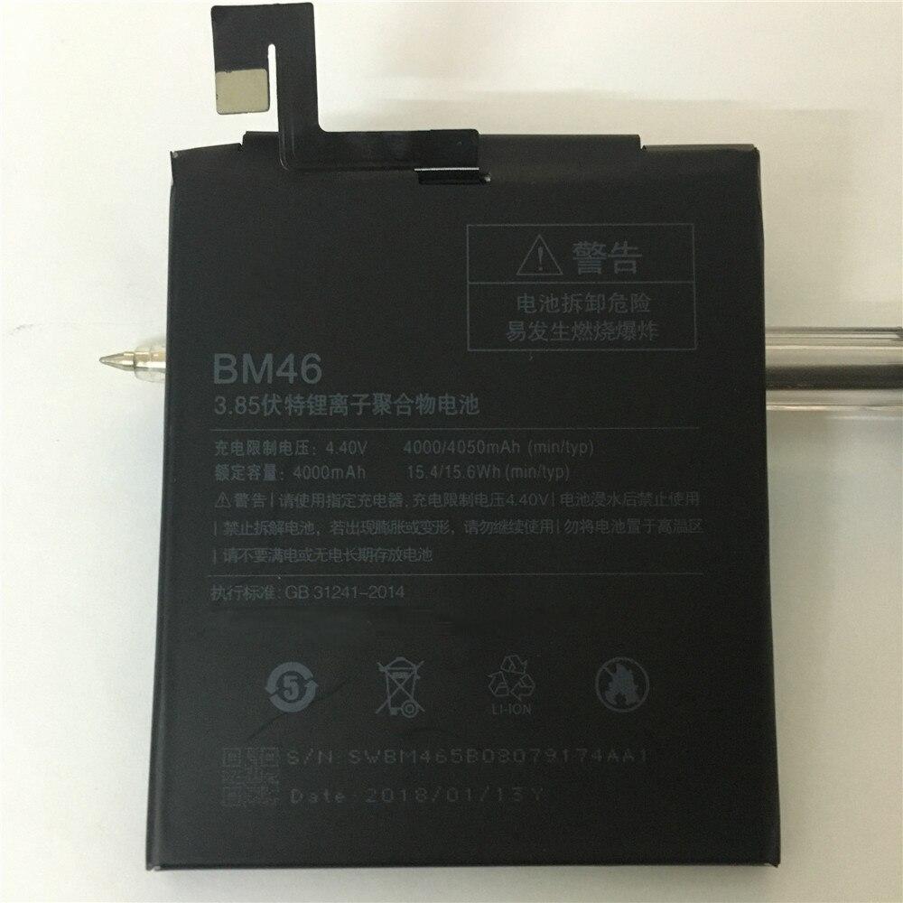 2018 New Original BM46 Haute Capacité 4000 mah Mobile Téléphone BM46 Batterie Pour Xiaomi Redmi Note 3 note3 Pro/ premier Batterie