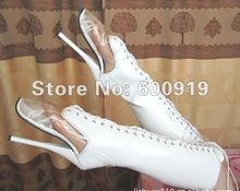 18CM High Height Sex boots Women's Heels Round Top Stiletto Heel  SM shoes Knee-High Boots  Heels  No.13447