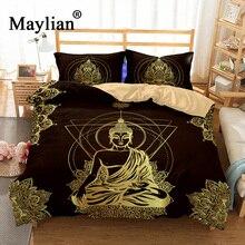 Buddha Bedding Set Mandala Quilt Cover Peace Design Bed Bohemian a Mini Van Bedclothes 3pcs BE1111