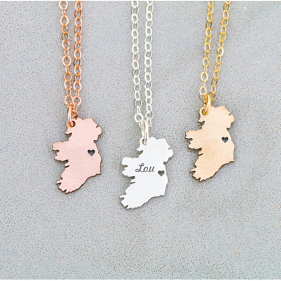 Ireland Charm Necklace Europe Irish Jewelry Travel Gift Custom Any Words Aliexpress Top-selling Accept Drop Shipping YP6064