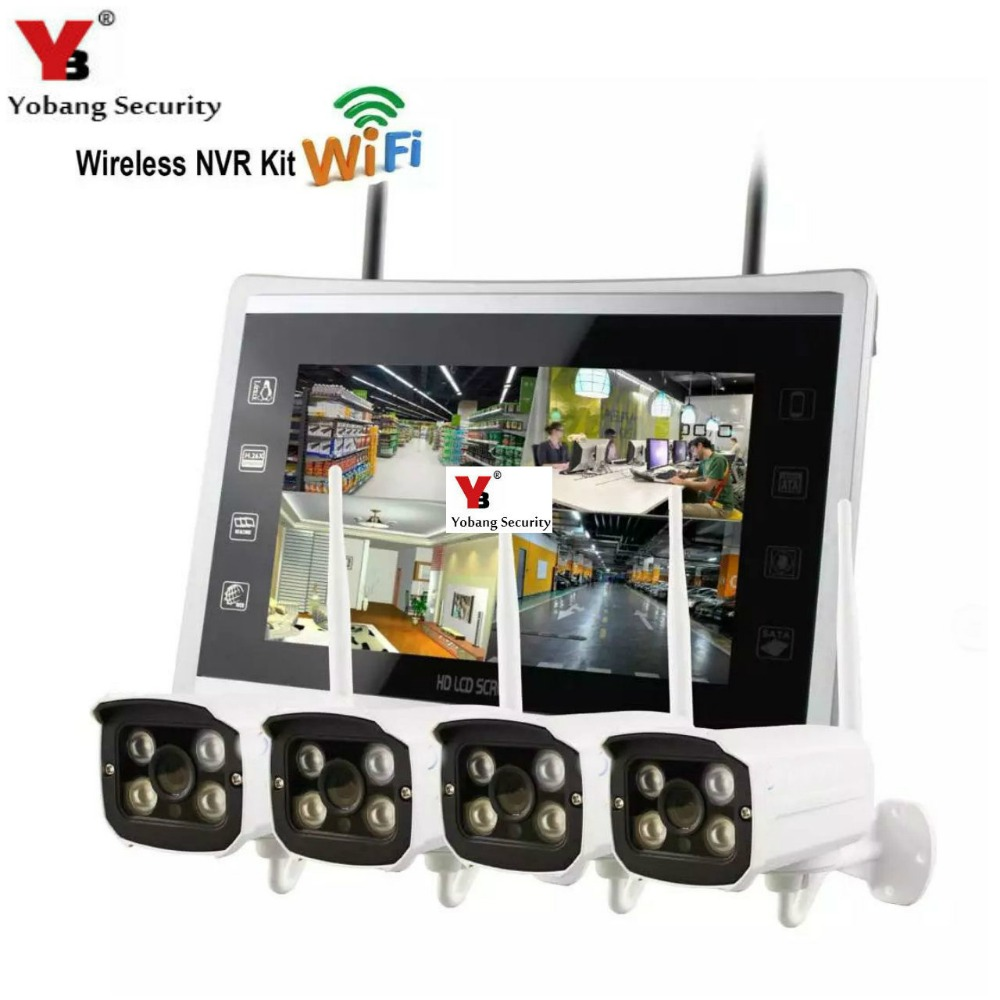 Yobang Security 4CH Wireless CCTV Camera Security System Kit 12\