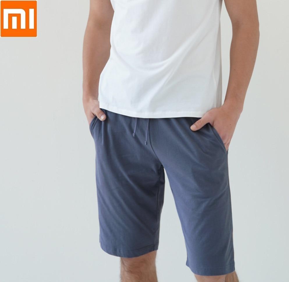 Casa ao ar Xiaomi Instant Algodão Confortável Casa Homem Shorts Livre Calças Curtas Masculino Sweatpants ME